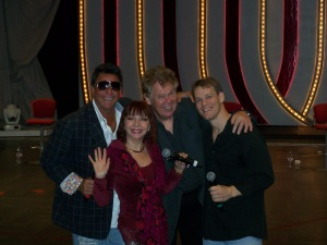 Entertainers on the first leg of our 6-week cruise: Paul Tanner, Hannah Starosta, Nick Lewin and Lance Ringnald
