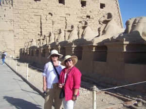 My friend Janet Wallace and I were amazed by the Avenue of the Sphinxes!