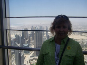 The view from The Top of the Khalifa Tower -- world's tallest building!