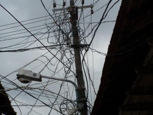 Utility pole in Cochin