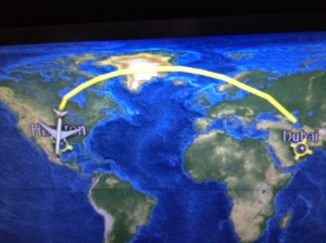 We were surprised to see our flight path back to Houston!