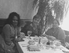 The Three Foodies enjoying food, tea and conversation at Oriental Gardens after the movie.